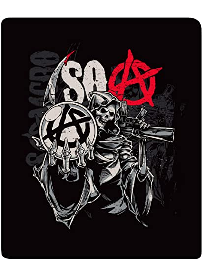 Amazoncom Sons Of Anarchy Reaper Throw Home Kitchen