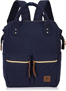 Veegul Stylish Doctor Style Multipurpose Travel Backpack Casual Backpack for Men Women Dual Pockets Navy Blue