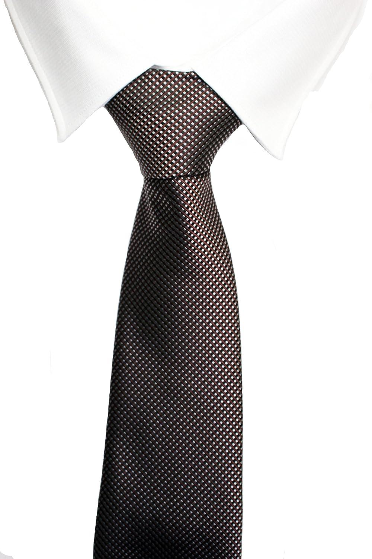 VIZENZO corbata marrón puntitos rojos: Amazon.es: Ropa y accesorios