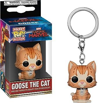 Funko Pop! Keychain Marvel - Captain Marvel - Goose The Cat Toy, Multicolor