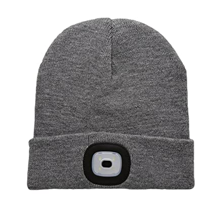 Unisex USB Rechargeable LED Light Beanie Warmer Knitted Cap Hat for Outdoor  Cycling Camping Running Fishing 01687dff788