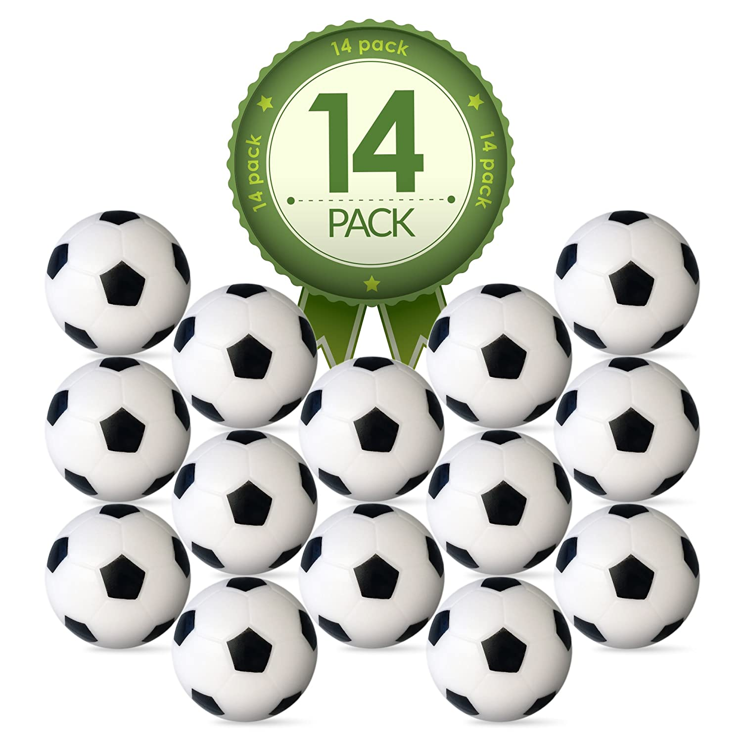 Amazon.com : Foosball Table Replacement Foosballs  14 Pack   36mm Game Table  Size   Black And White Tabletop Soccer Balls : Sports U0026 Outdoors