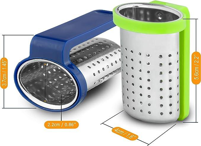 Edelstahl Sieb mit Halter aus BPA Freiem Plastik Prime Horizon Teesieb 2er Set 2 St/ück, Union Jack Teefilter f/ür Losen Tee Sieb h/ängt am Rand der Tasse