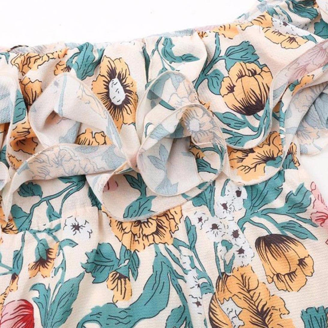DOGZI Monos Mujer Verano Clubwear Floral Mono Corto Bodycon Fiesta ... 5564ad757ffe