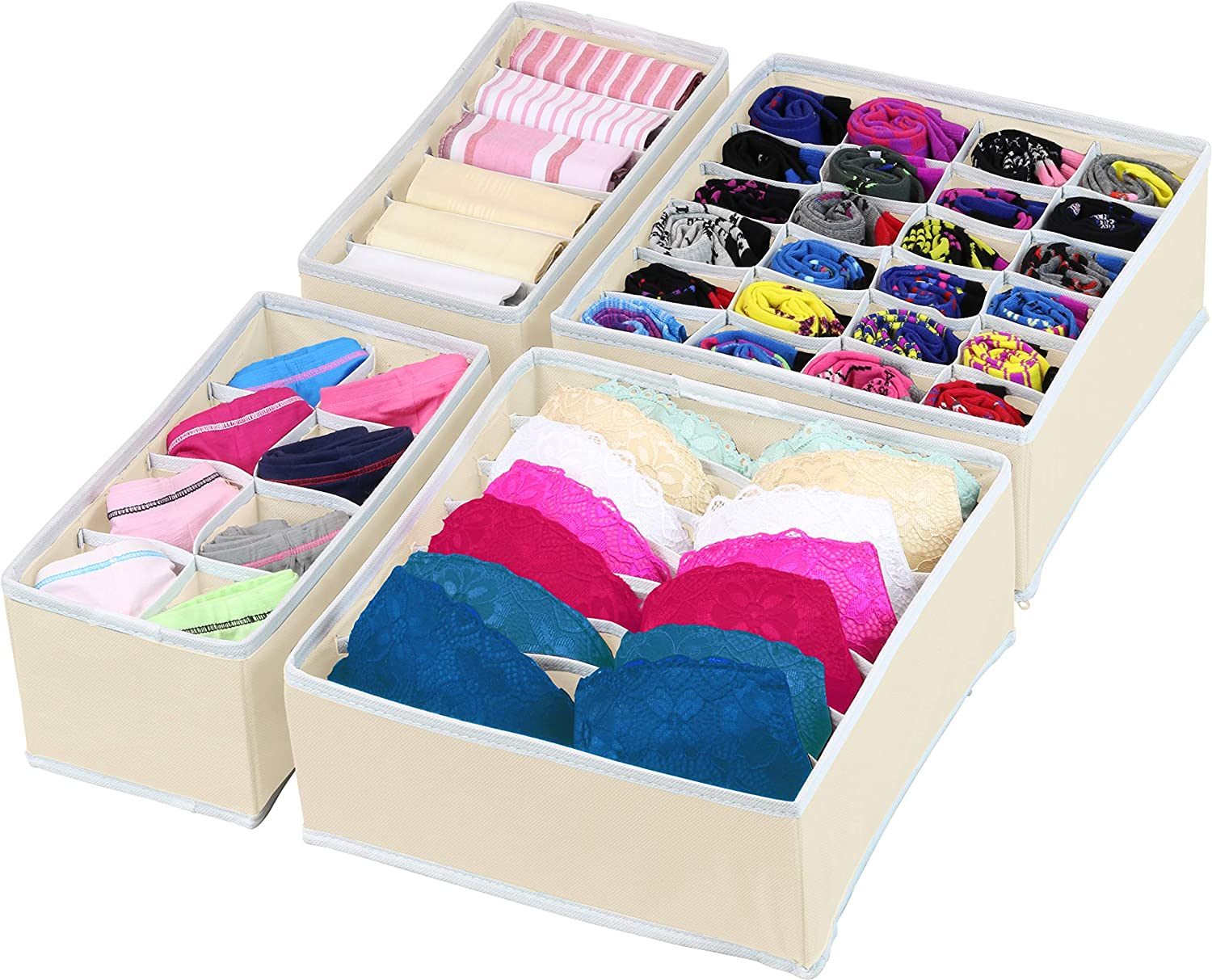 6//7//8//24 Grids Storage Box Closet Underwear Ties Organizer Socks Drawer Divider