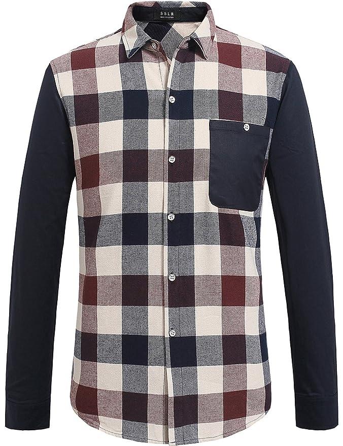 1960s Mens Shirts- Dress, Mod, T-Shirt, Turtleneck SSLR Mens Vintage Long Sleeve Gingham Shirt $27.00 AT vintagedancer.com