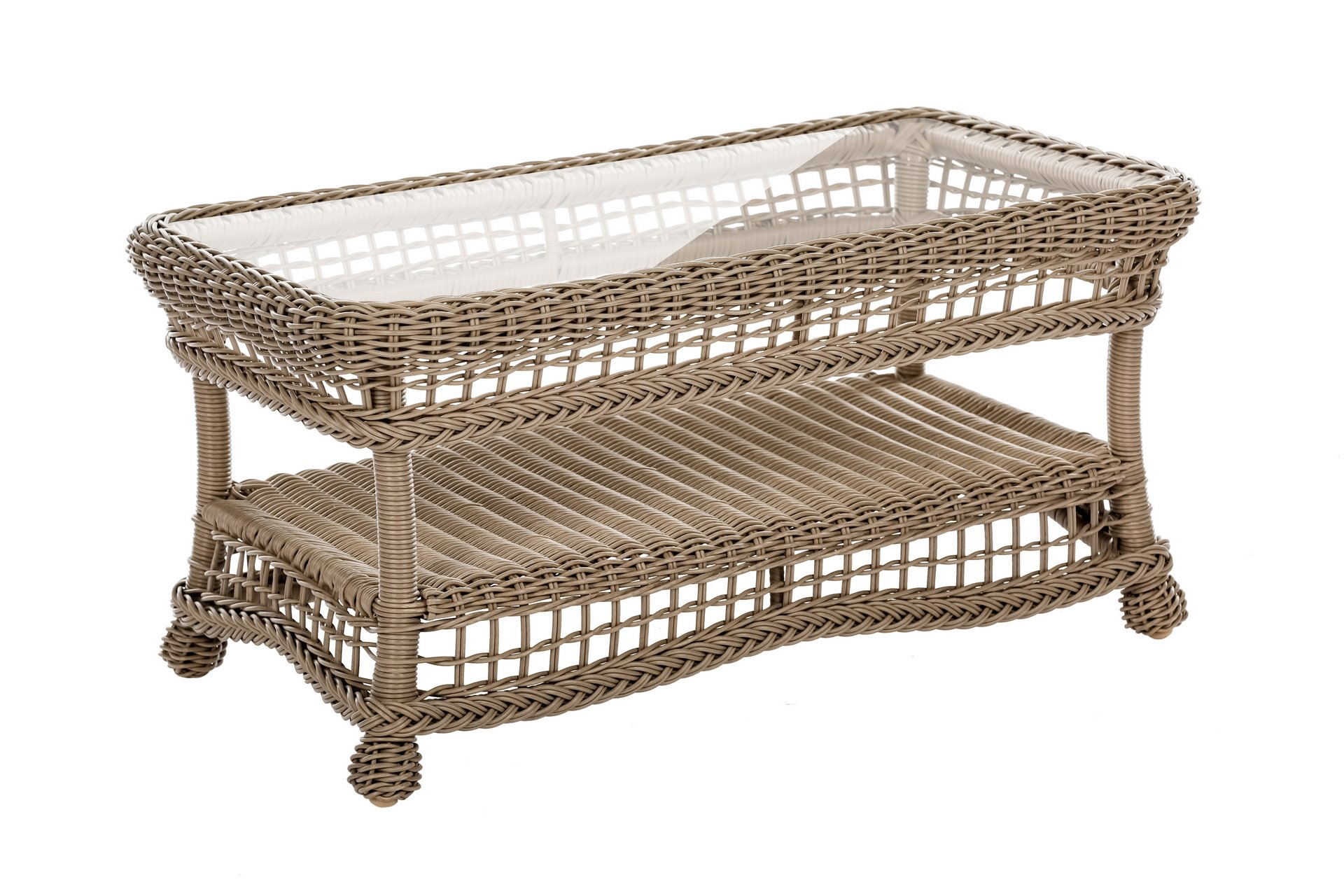 WUnlimited SW1308-CT Saturn Collection Outdoor Garden Patio Coffee Table, Light Brown