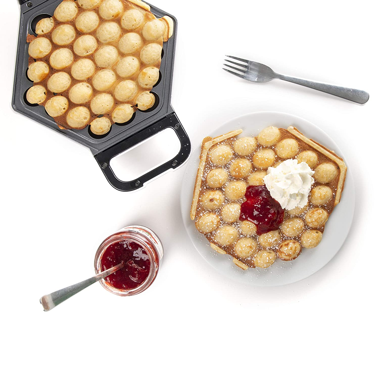 KitchPro Electric Bubble Waffle Maker for Bubble Waffles or Cones Hong Kong Waffle Style UK Plug