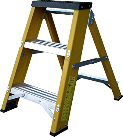 Lyte - Escalera de 3 peldaños (fibra de vidrio, hecha en el Reino Unido): Amazon.es: Bricolaje y herramientas