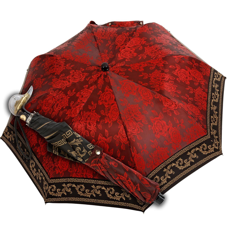 Marchesato - Pocket umbrella - baroque red