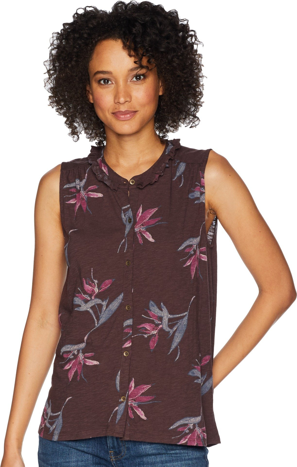 Lucky Brand Women's Floral Printed Tank Top, Multi, XL
