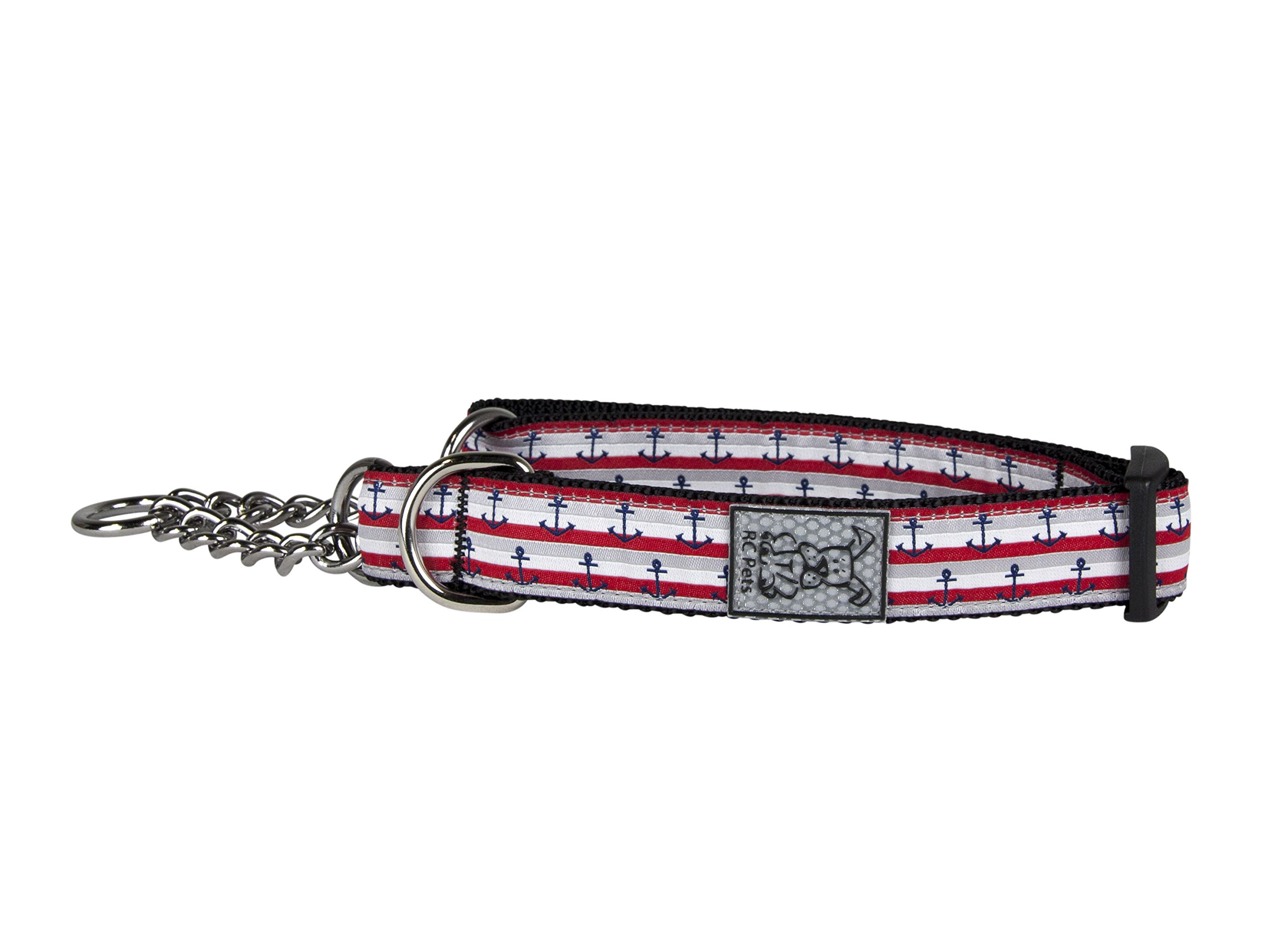 RC Pet Products 3/4 Training Martingale Dog Collar, Nautical, Medium