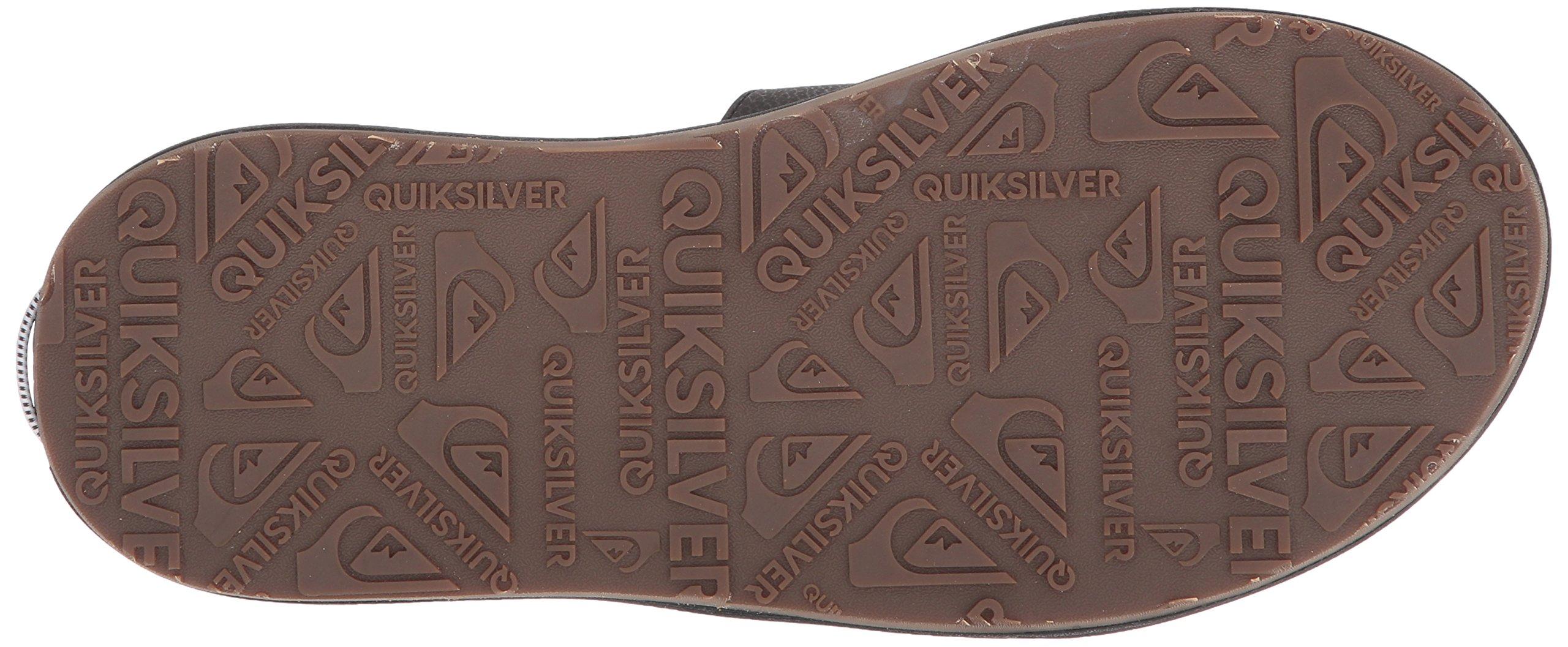 Quiksilver Men's Travel Oasis Slide Sandal, Black/Black/Brown, 8(41) M US by Quiksilver (Image #3)