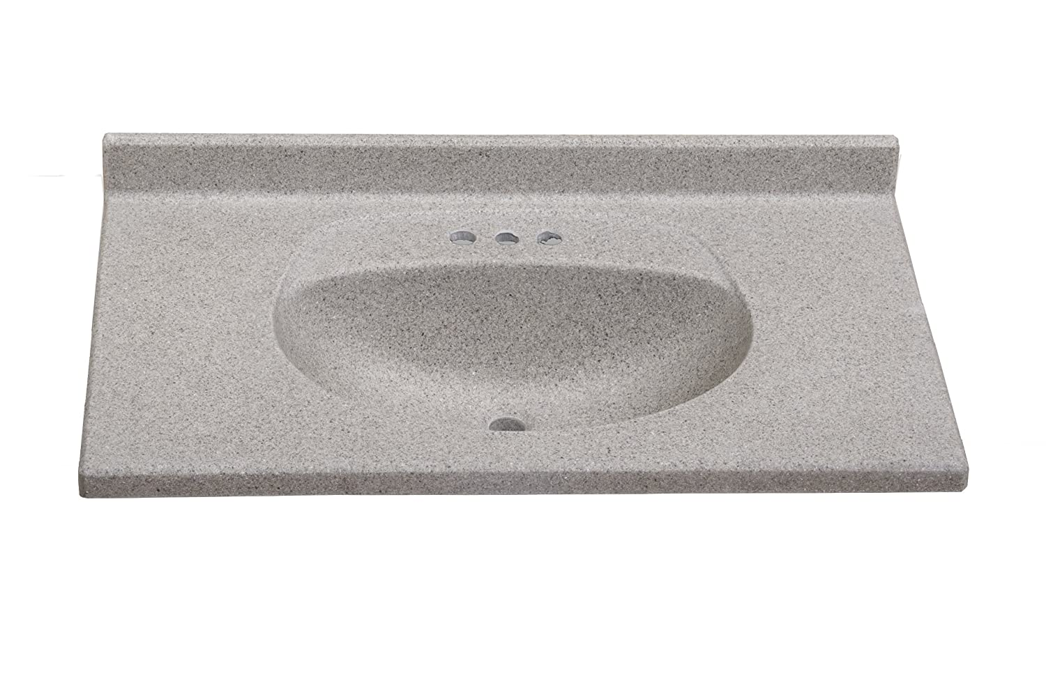 Durable Service Imperial Vb3722capss Olympic Oval Bowl Bathroom Vanity Top 37 Inch Wide By 22