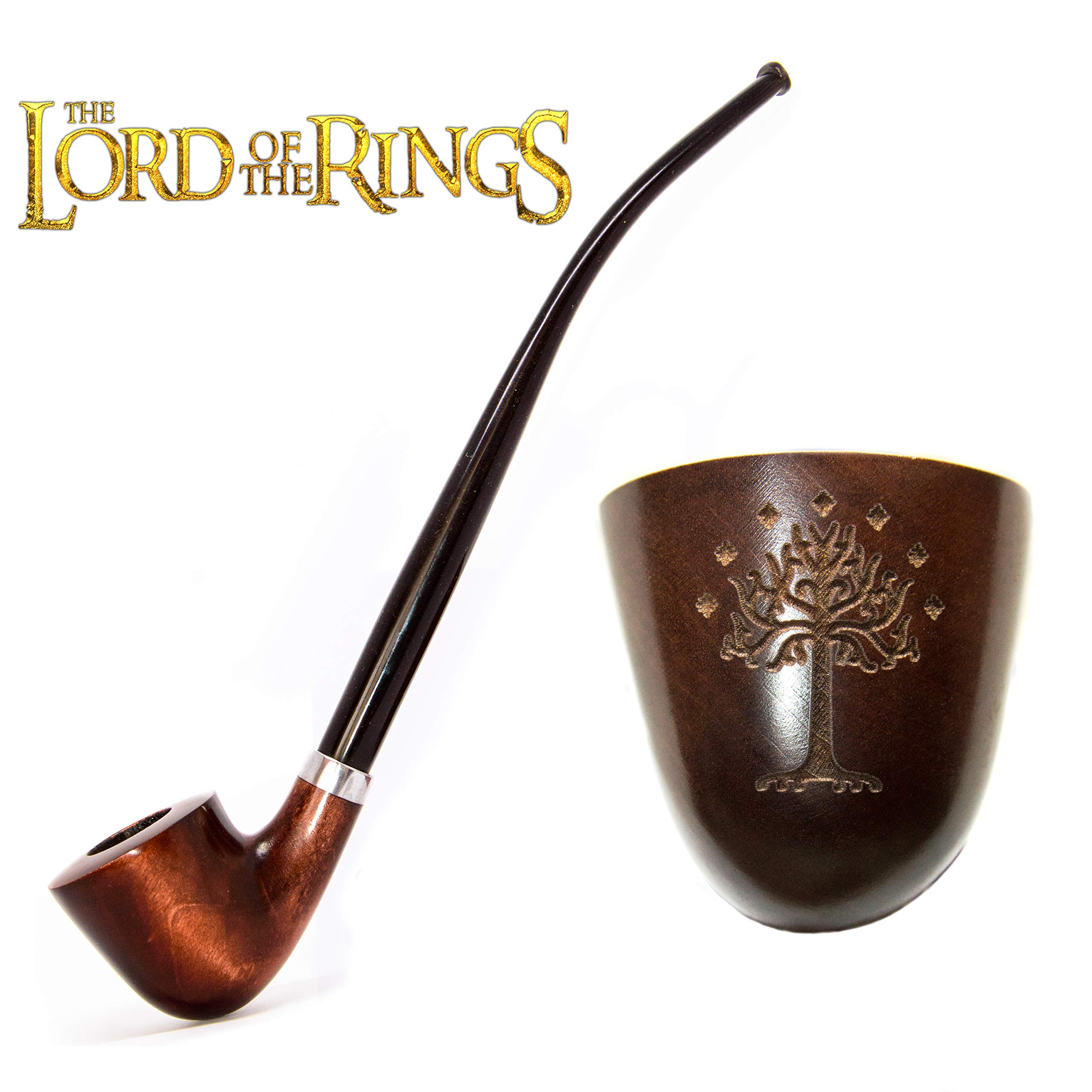 KAFpipeWorkshop Tobacco pipe Gandalf pipe Wooden pipe Tobacco Smoking pipe Lord of the Rings pipe Churchwarden pipe ''Tree of Gondor''