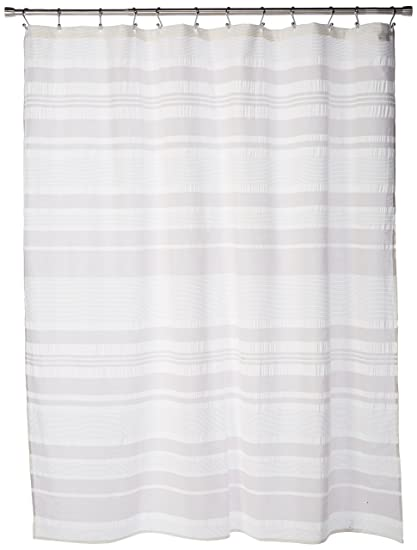Ink Ivy II70 659 Lakeside Cotton Shower Curtain 72 X Grey