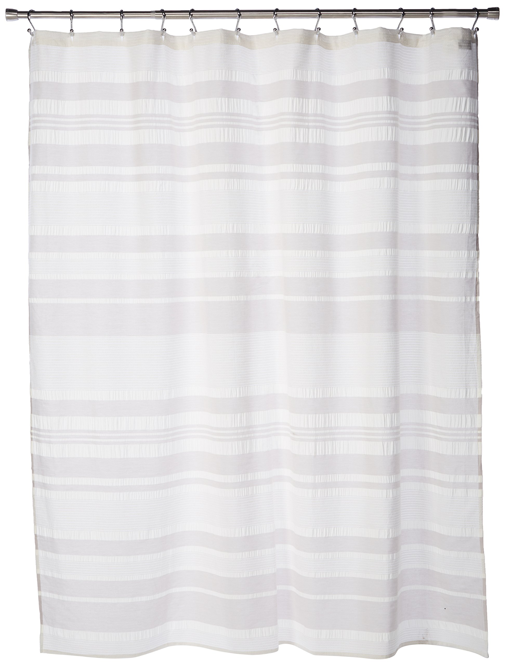 Ink+Ivy II70-659 Lakeside Cotton Shower Curtain, 72 x 72, Grey - Set includes: 1 shower curtain Materials: 100Percent cotton Measurements: 72-by-72-inch shower curtain - shower-curtains, bathroom-linens, bathroom - 81R%2BEYh83dL -