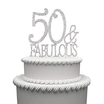 Hatcher Lee Bling Crystal Fabulous And 50 Birthday Cake Topper