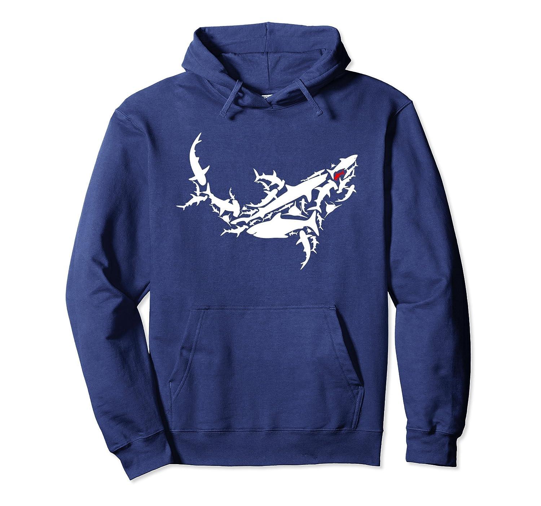 Great White Shark Hoodie – Marine Ocean Shark Sweatshirt-Samdetee