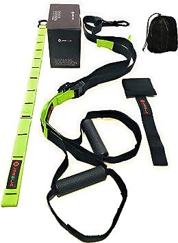 JARGUE Entrenamiento en casa en Suspension Kit o Suspension Trainer Ideal para Ejercicios de Fitness y Gimnasia Activa en su casa o al Aire Libre, ...