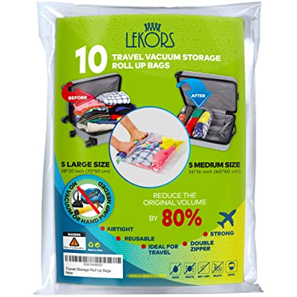 Amazon Com Lekors Travel Space Saver Bags 5 Medium And 5 Large