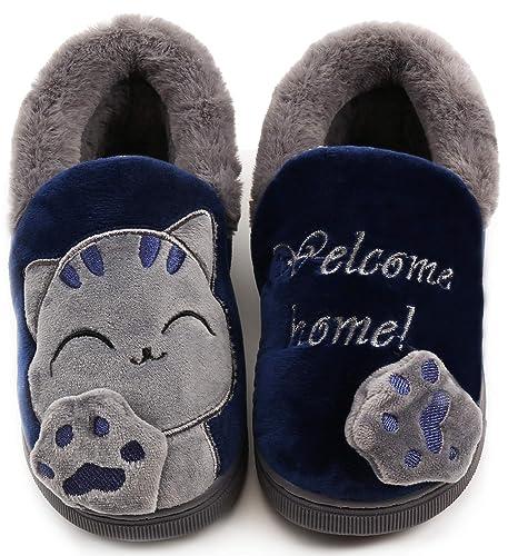 la scelta migliore più foto marchio famoso Pantofole per Unisex - Bambini e Adulto Ragazze Inverno Pantofole ...