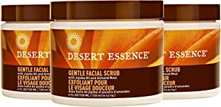 product image for Desert Essence Gentle Facial Scrub - 4 Fl Oz - Pack of 3 - Jojoba Oil - Almond Meal - Oat Buff Skin - Aloe Vera - Removes Dead Skin Cells, Unclogs Pores - For Radiant Skin - Exfoliating Scrub
