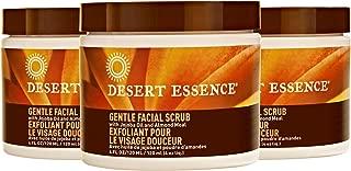 product image for Desert Essence Gentle Facial Scrub - 4 Fl Oz - Pack of 3 - Jojoba Oil - Almond Meal - Oat Buff Skin - Aloe Vera - Removes Dead Skin Cells, Unclogs Pores - For Radiant Skin - Exfoliating Scrub