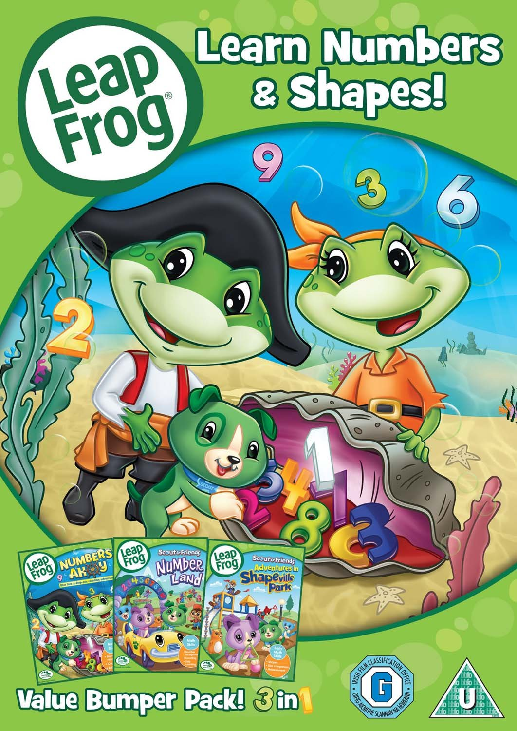 leapfrog learn numbers shapes dvd