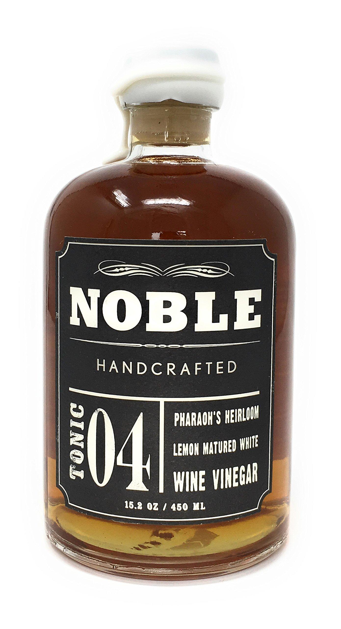 Noble Tonic 04 Pharaohs Heirloom Lemon Matured White Wine Vinegar, 15.2 oz by Noble Handcrafted