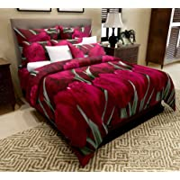 Home Candy Elegant Print Microfiber Double Bedsheet with 2 Pillow Covers - Floral, Multicolour
