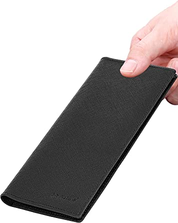 Slim Wallet For Men Bifold Wallet With ID Window RFID Blocking PU Leather DRIA