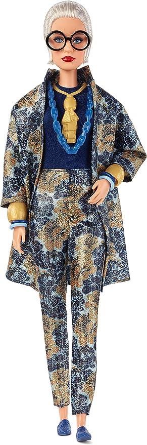 TOP BARBIE DOLL IRIS APFEL  FLORAL BROCADE JACKET BLAZER COAT ACCESSORY CLOTHING
