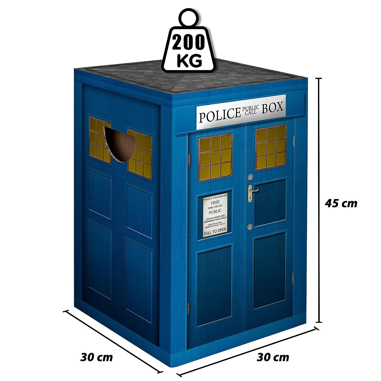 murando Papphocker Motiv Polizei 45x30x30 cm faltbar Papier Hocker ergonomischer Karton Photohocker Falthocker d-A-0082-ap-a