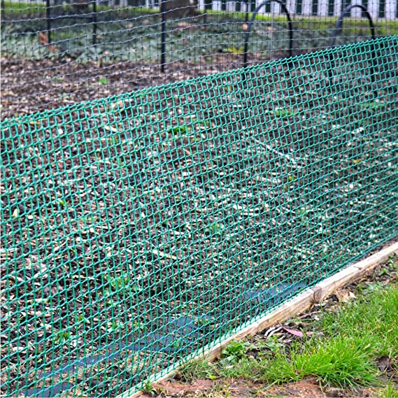 Green 19mm 0.5m x 5m Climbing Plant Support Plastic Garden Mesh ...