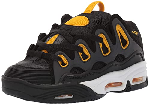 d7109d3be9d Osiris D3 2001 Black/White/Yellow-6uk: Amazon.co.uk: Shoes & Bags