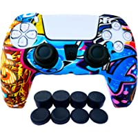 PS5 Controller Skins   Sony Playstation 5 Accessories - Silicone Protector Cover Skin for Dualshock with 8 x Pro Thumb…
