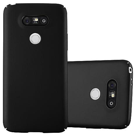 Cadorabo Funda para LG G5 en Metal Negro - Cubierta Protección de Plástico Duro Super Delgada e Inflexible con Antichoque - Case Cover Carcasa ...