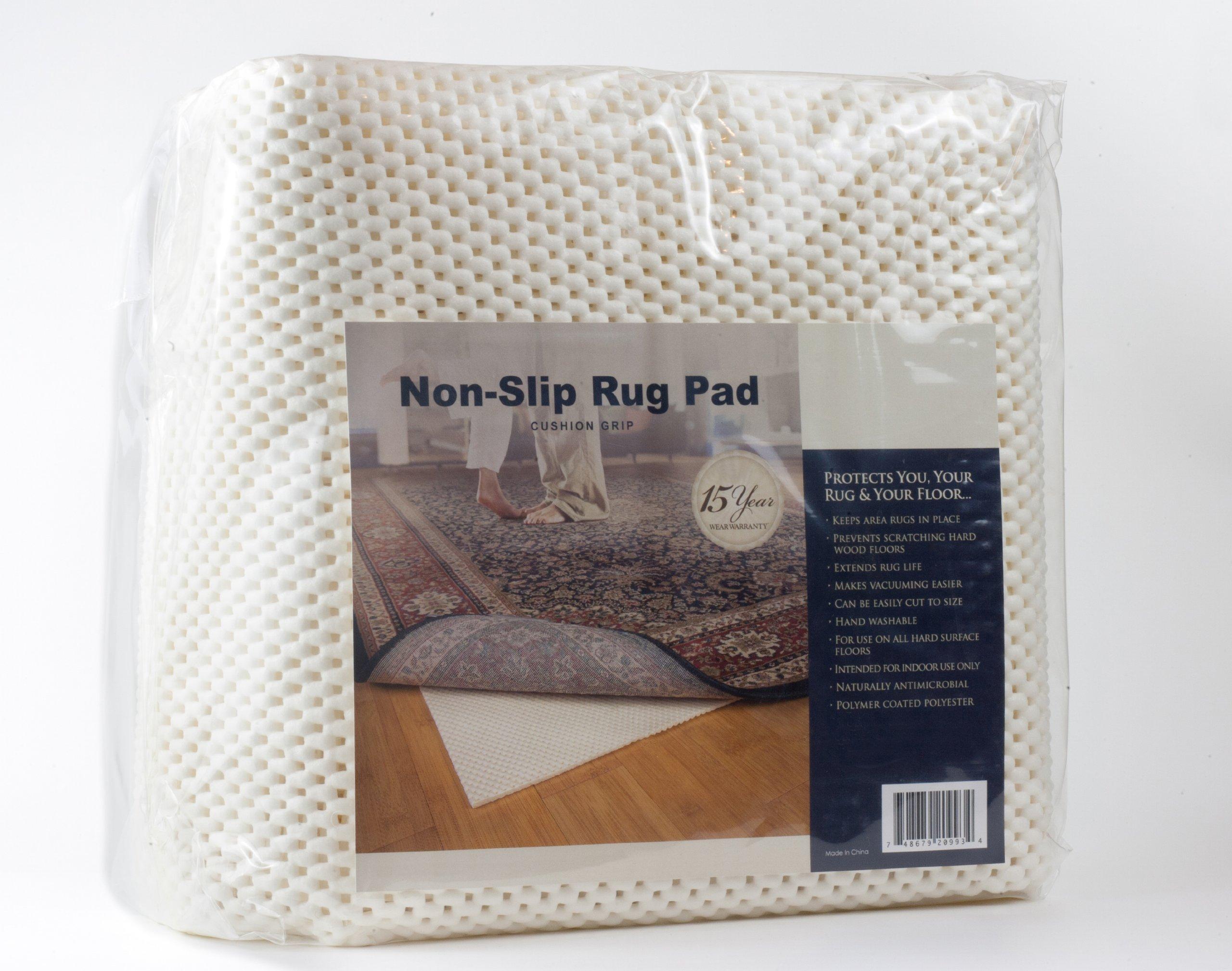 Granville Rugs Cushion Grip Non-skid Area Rug Pad 8-Feet Round Rug