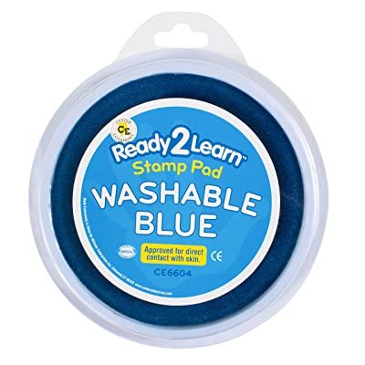 Center Enterprises Inc. Ready2Learn Circular Jumbo Washable Stamp Pad, Blue: Toys & Games