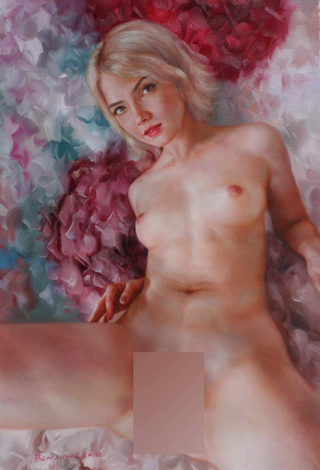Nude girl art prints canvas transfer from original oil painting charming nude girl beauty lady female nude for home wall Decor