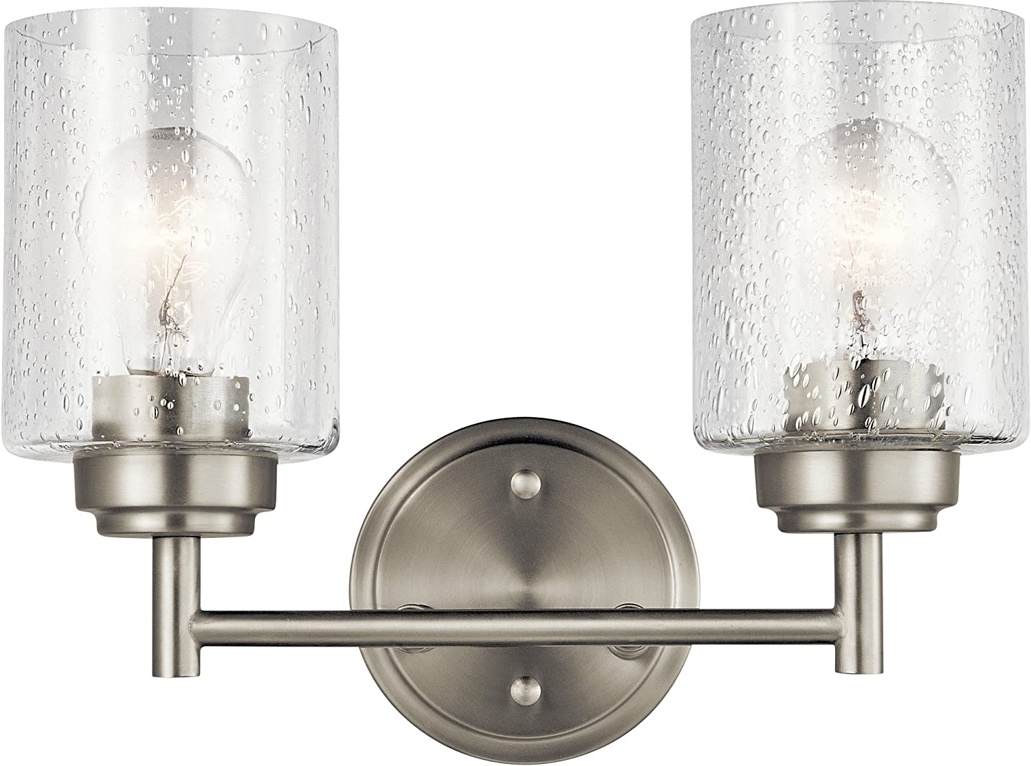 Kichler Lighting 45885NI Two Light Bath from The Winslow Collection, Brushed Nickel
