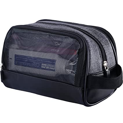 Amazon.com  WOWBOX Travel Kit Toiletry Bag for Men Waterproof Cosmetic  Makeup Shower Bag Shaving Dopp Kit Case Accessories Organizer with Side  Hand Strap  ... 44e7c32254