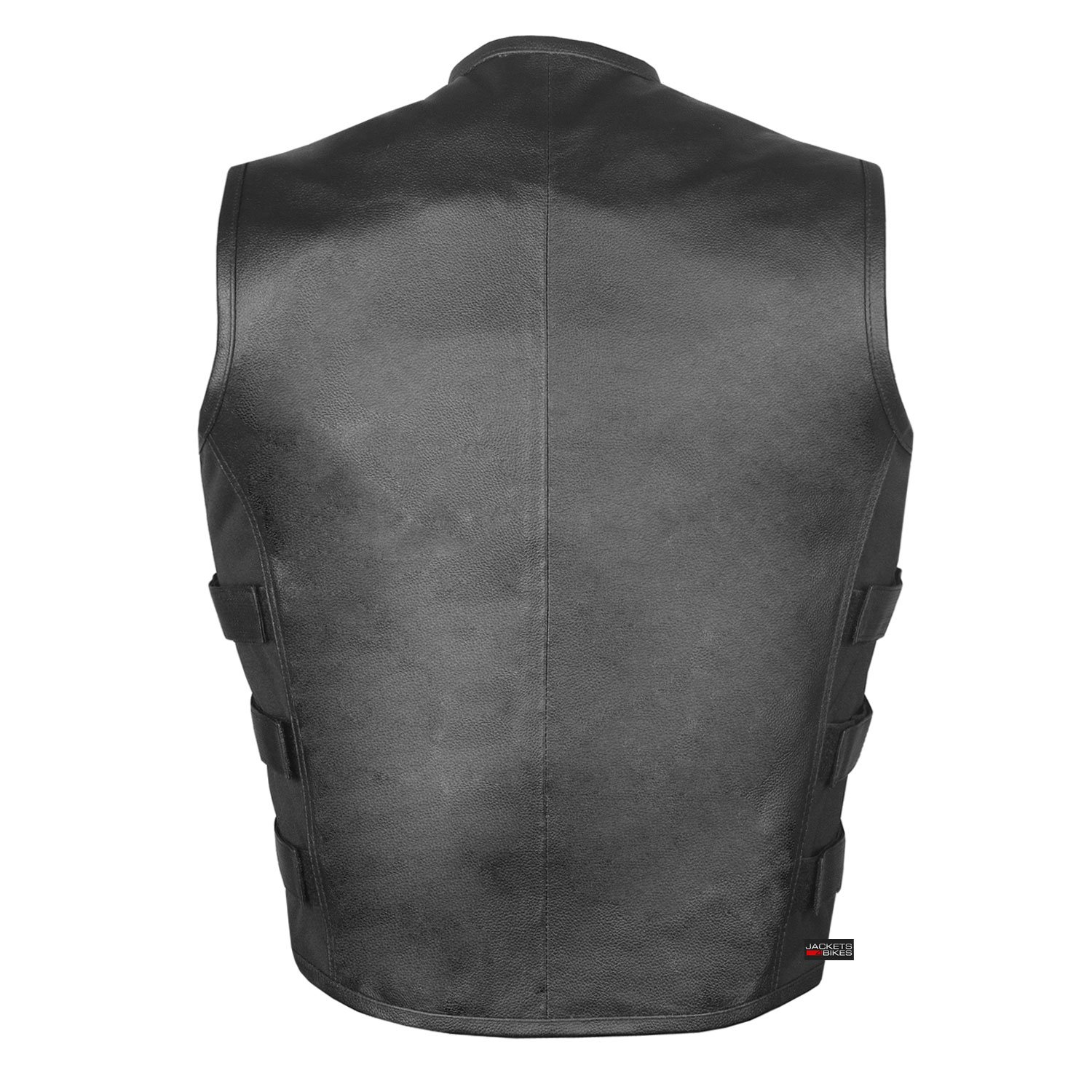 Men's Biker Swat Style Armor Motorcycle Leather Vest Conceal Carry Pockets XXL by Jackets 4 Bikes (Image #3)
