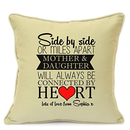 Personalised Cushion Cover Gift For Mum Birthday Mothers Day Mother And Daughter 18