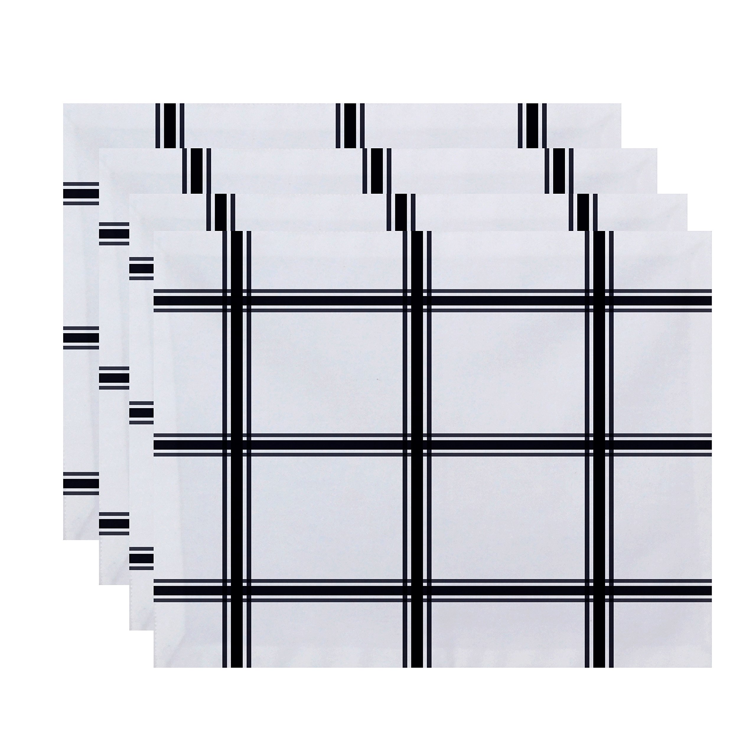 E By Design Windowpane Plaid Geometric Print Placement, 18'' by 14'', Bewitching