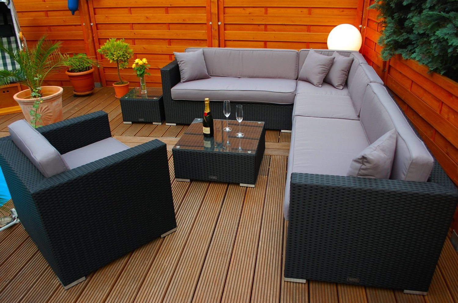 beautiful gartenmobel lounge polyrattan images house. Black Bedroom Furniture Sets. Home Design Ideas