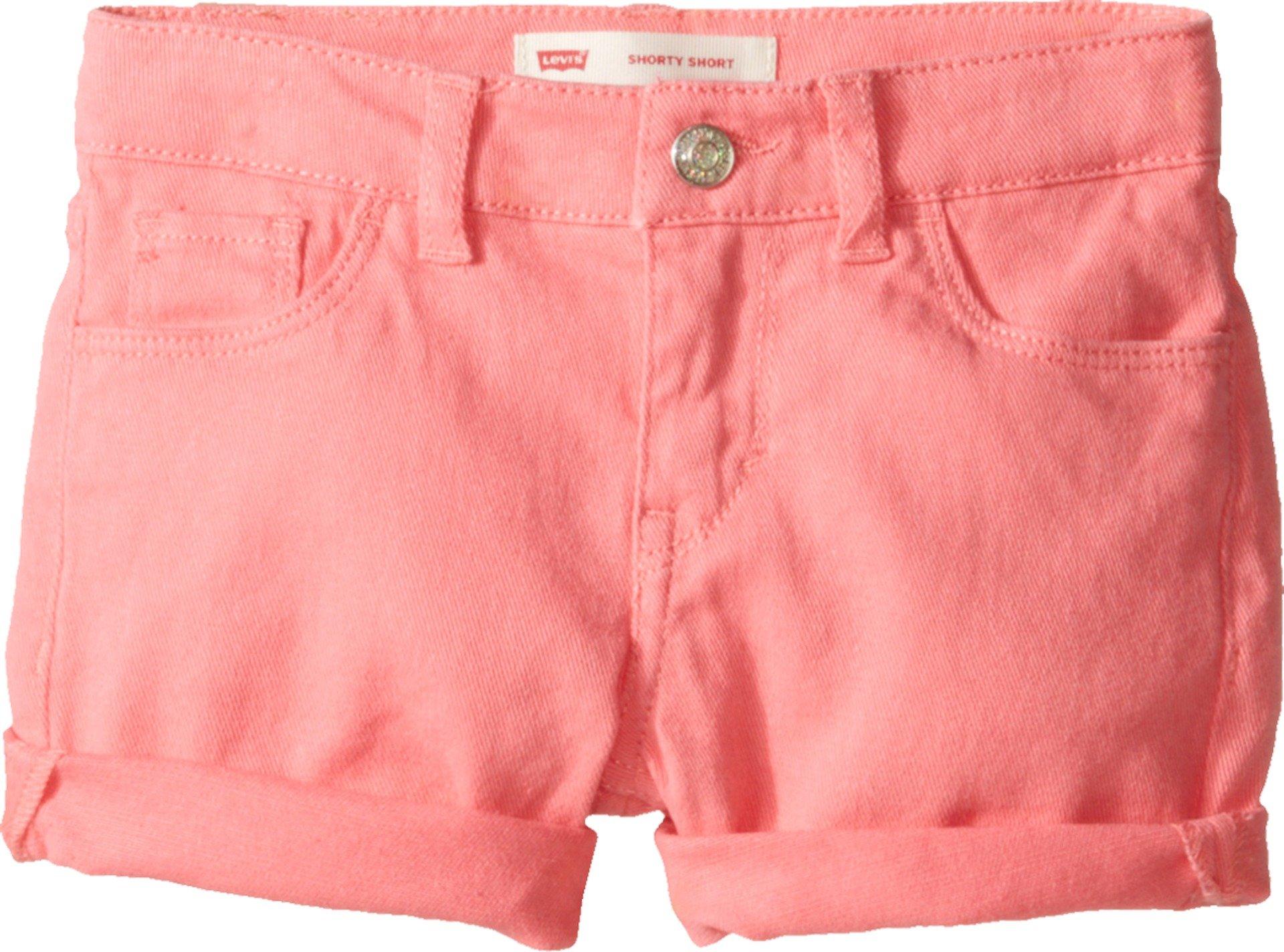 Levi's Kids Girl's Summer Love Midi Short (Little Kids) Strawberry Pink 6X