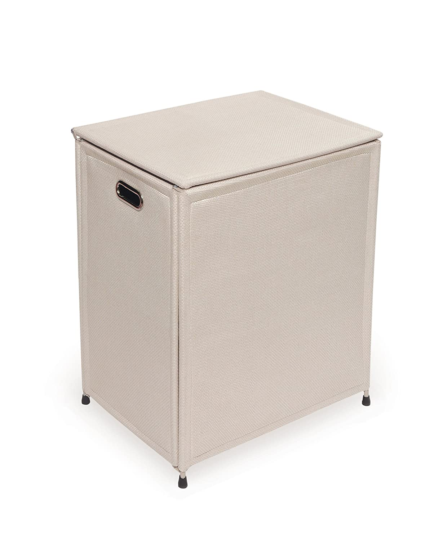 Rectangle Metal Frame Cloth Laundry Hamper with Flip-up Lid and Handles Badger Basket Company 30030