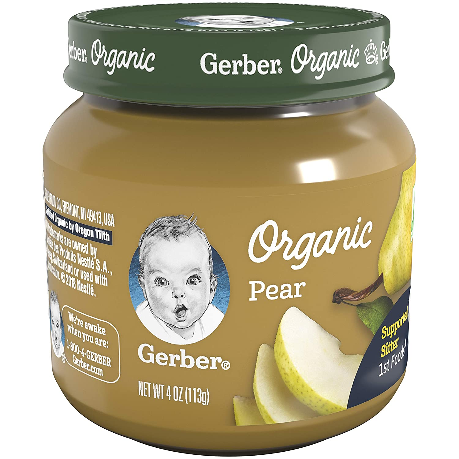 Gerber Purees Organic 1st Foods, Pear Baby Food, 4 Ounce